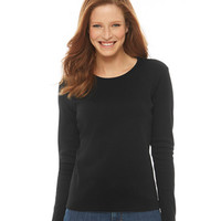 Pima Cotton Tee, Long-Sleeve Crewneck: Tees and Knit Tops | Free Shipping at L.L.Bean