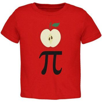 PEAPGQ9 Halloween Math Pi Costume Apple Day Toddler T Shirt