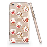 Japanese Lucky Fortune Cats Slim Iphone 6 6S Case, Clear Iphone 6 6S Hard Cover Case For Apple Iphone 6/6S -Emerishop (iphone 6)