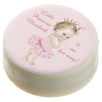 Princess in Pink Tutu Personalized Baby Shower Chocolate Covered Oreo