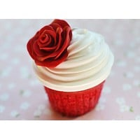 Red Velvet Rose Cupcake Realistic Miniature Food Magnet Polymer Clay Fridge Magnet