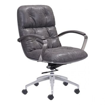 ZUO Modern Avenue 100447 Office Chair Vintage Gray