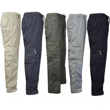 CALOFE Autumn Men Hiking Pants Lightweight Breathable Quick Dry Climbing Windproof Trousers Drawstring Multi Pockets Cargo Pants