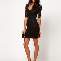 ASOS Bodycon Dress in Lace at asos.com