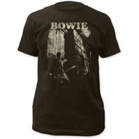 David Bowie Guitar Fitted Jersey T-Shirt