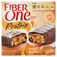Fiber One™ Protein Peanut Butter Chewy Bars 5 ct Box - Walmart.com