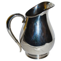 Monogrammed  K Sterling Silver Pitcher