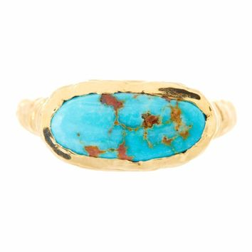 Logan Hollowell - Bisbee Single Turquoise Ring