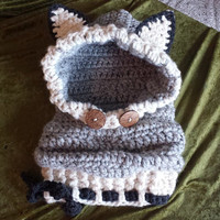 Chunky Soft Crochet Wolf Cowl Child Size