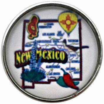 New Mexico State Snap 20mm for Snap Jewelry