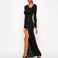 ASOS Asymmetric Neck Sexy Maxi Dress