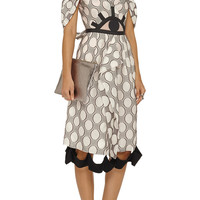 Roland Mouret Printed fil coupe dress – 65% at THE OUTNET.COM