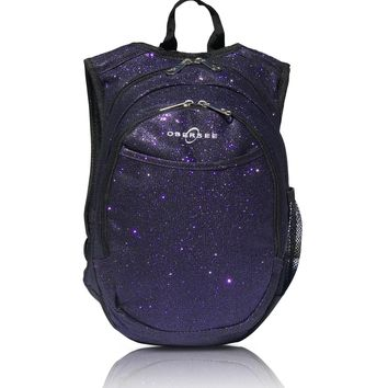 Obersee Pre-School Sparkle Backpack with Integrated Snack Cooler - Purple