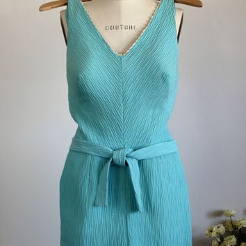 Vintage 1950s Blue Playsuit Romper