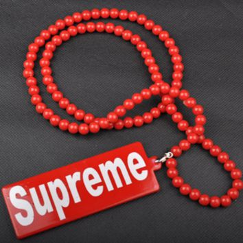 Supreme tide brand fashion wild exaggerated hip hop necklace