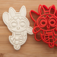 Powerpuff Girls. Blossom.  Cookie cutters. Gingerbread and cookies.