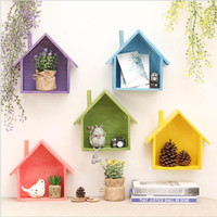 Decorative House Floating Shelves - 8 colors