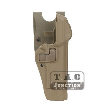 Tactical Serpa Level 3 Retention Auto Lock Duty Pistol Gun Holster Right Hand Waist Belt Loop for Colt 1911 M1911