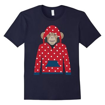 Monkey in Hoodie - Funny Monkey Graphic T-Shirt