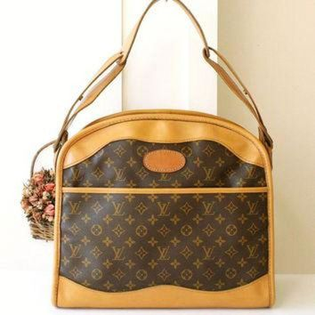 DCCKU3N Louis Vuitton Bag Very Rare Vintage Luggage Travel Brown Monogram Shoulder Handbag Aut