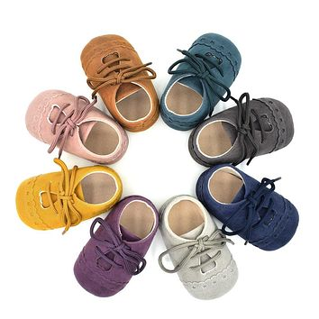 Baby Moccasins Nubuck Leather Shoes Soft Footwear Shoes for Girl Baby Kids Boys Sneakers First Walker Winter Baby Non Slip Shoes