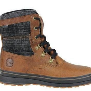 "Timberland Mens EK Schazzberg High 8"" Boots WP Insulated Brown 7751A"