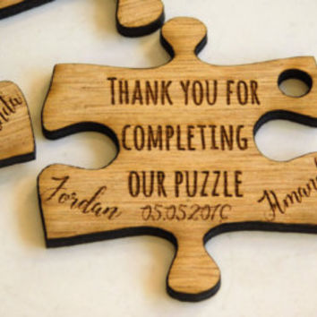 Custom Wedding Favors - Puzzle Favors - Puzzle Piece Favors - Puzzle Decor - Puzzle Decorations - Puzzle Pieces - Wedding Table Decorations