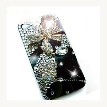 iPhone 4 Case, iPhone 4s case, iPhone 5 Case, Bling iPhone 4 case, Black iphone 4 case, iphone 5 bling case, iPhone 4 bow case, iphone5 case