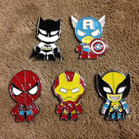 LOT OF 5 Marvel Super Hero Hat Pin Set - Handmade, Repurposed From Charms Set C