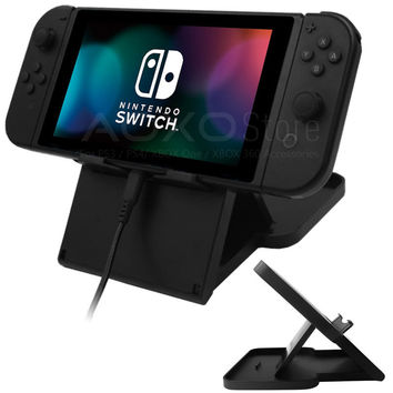 Compact Playstand For Nintendo Switch  Game Console Adjustable Angle Foldable Base