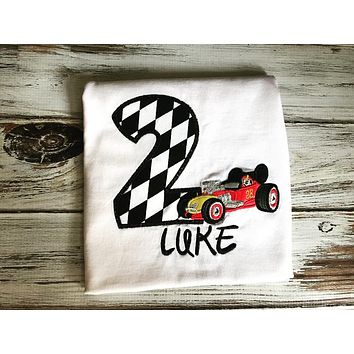 Roadster Racer Mickey Mouse Birthday shirt