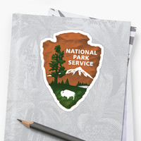'National Park Service' Sticker by gnarlynicole