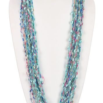 Mulit Color Multi Strand Yarn Necklace