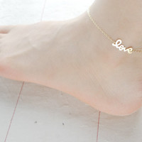 love anklet choose one gold/ silver/rose gold