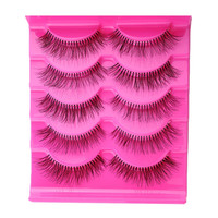 5 Pairs/pack Natural Sparse Cross Eye Lashes Extension Beauty Makeup Long Fake False Eyelashes Thick Beam Eyelashes-JM