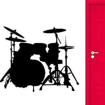 Wall Stickers Drums Musical Instrument Vinyl Decal Unique Gift (ig2367)