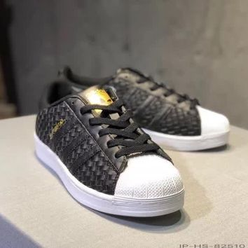 adidas superstar ii women casual fashion weave plate shoes sneakers