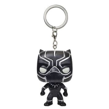 Marvel Action Figure Black Panther  - Toy Keychain