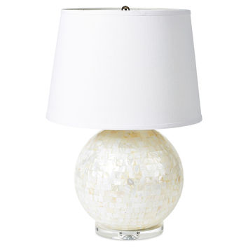 Madeline Table Lamp, Mother-of-Pearl, Table Lamps