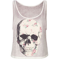 FULL TILT Floral Skull Womens Tank 212652957 | Graphic Tees & Tanks | Tillys.com