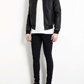 BLACK OVERDYED SPRAY ON SKINNY JEANS - Men's Jeans - Clothing - TOPMAN USA