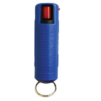 Wildfire 1/2 oz 18% Pepper Spray w/ Keychain & belt clip Self Defense Non Lethal Blue
