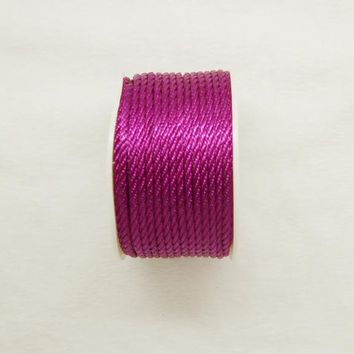 Free shipping 10mtrs/Lot Vintage Purple 3mm Nylon Braide Persian Cord Macrame&Craft Yarn