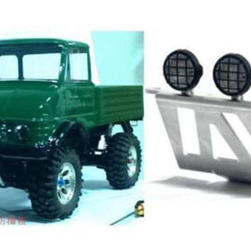 Front Aluminum Bumper Guard with Led Holder Bar for Tamiya RC 1/10 CC01 Chassis Jeep Bronco Bronco Unimog fj40 Land Cruiser