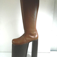 Glam 70s rock 12 inches  platform glam boots this is high made to order choose height size and color