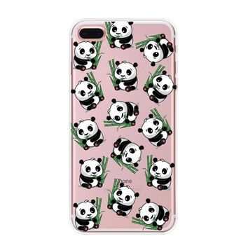 cute bamboo panda case for iphone 7 6s 6 plus iphone x 8 plus with gift box  number 1