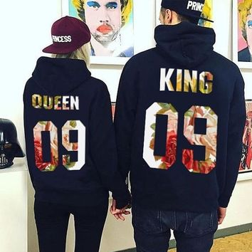 Couples King and Queen Hoodies