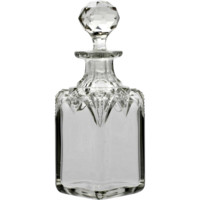 Brilliant Cut Glass Perfume Bottle Antique 1880s Crystal
