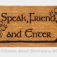 LOTR Tolkien -Speak, Friend, and Enter- with Trees