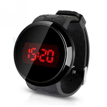 Sport Unisex LED Touch Screen Day Date Silicone Wrist Watch